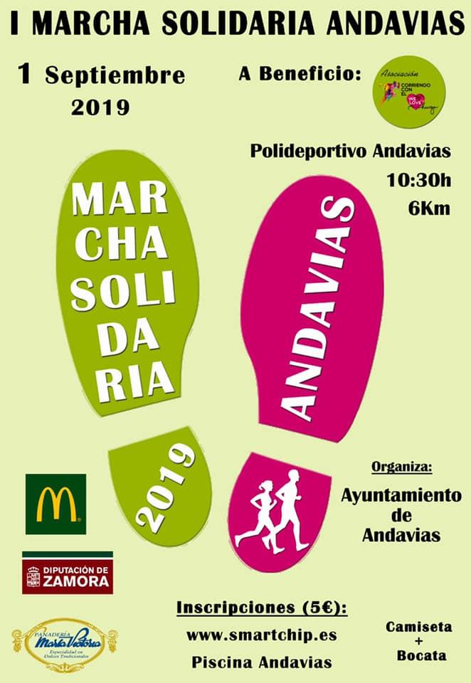 I Marcha Solidaria Andavias a Beneficio de la Asociación Corriendo con el Corazón por Hugo