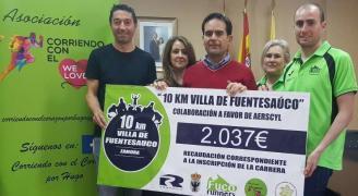 La Asociación Corriendo por Hugo recibe 2.037 euros de la Carrera de Fuentesaúco