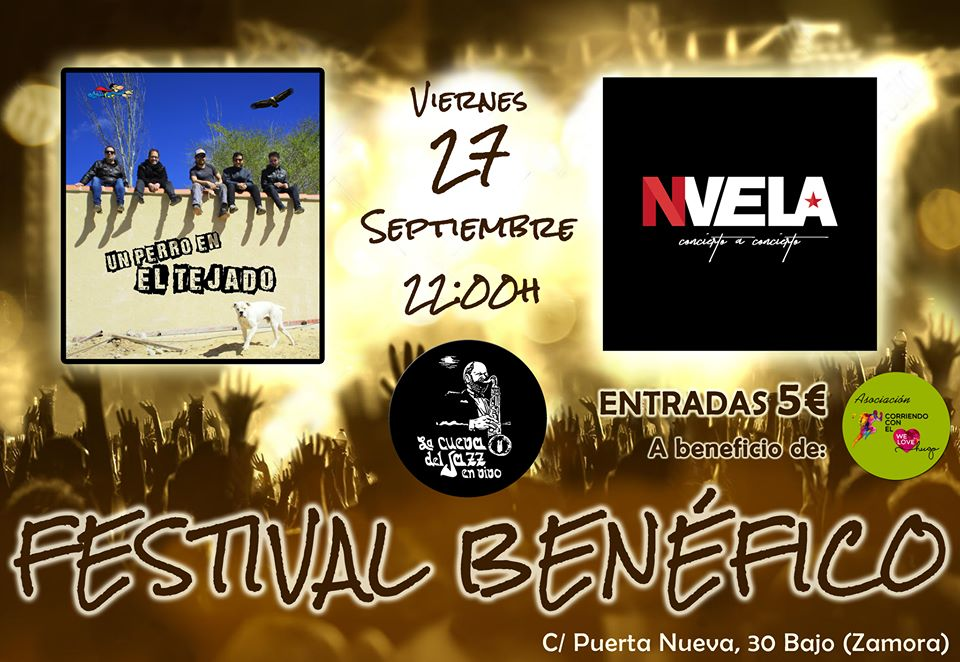 2º Festival benéfico en La Cueva del Jazz en favor de la asociación Corriendo con el Corazón por Hugo