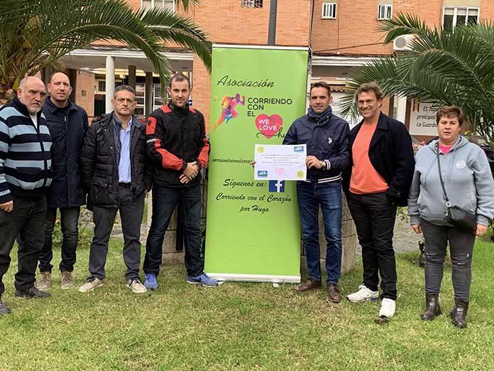 Club Zamora en Ruta BTT dona 500 euros a Corriendo con el Corazón por Hugo