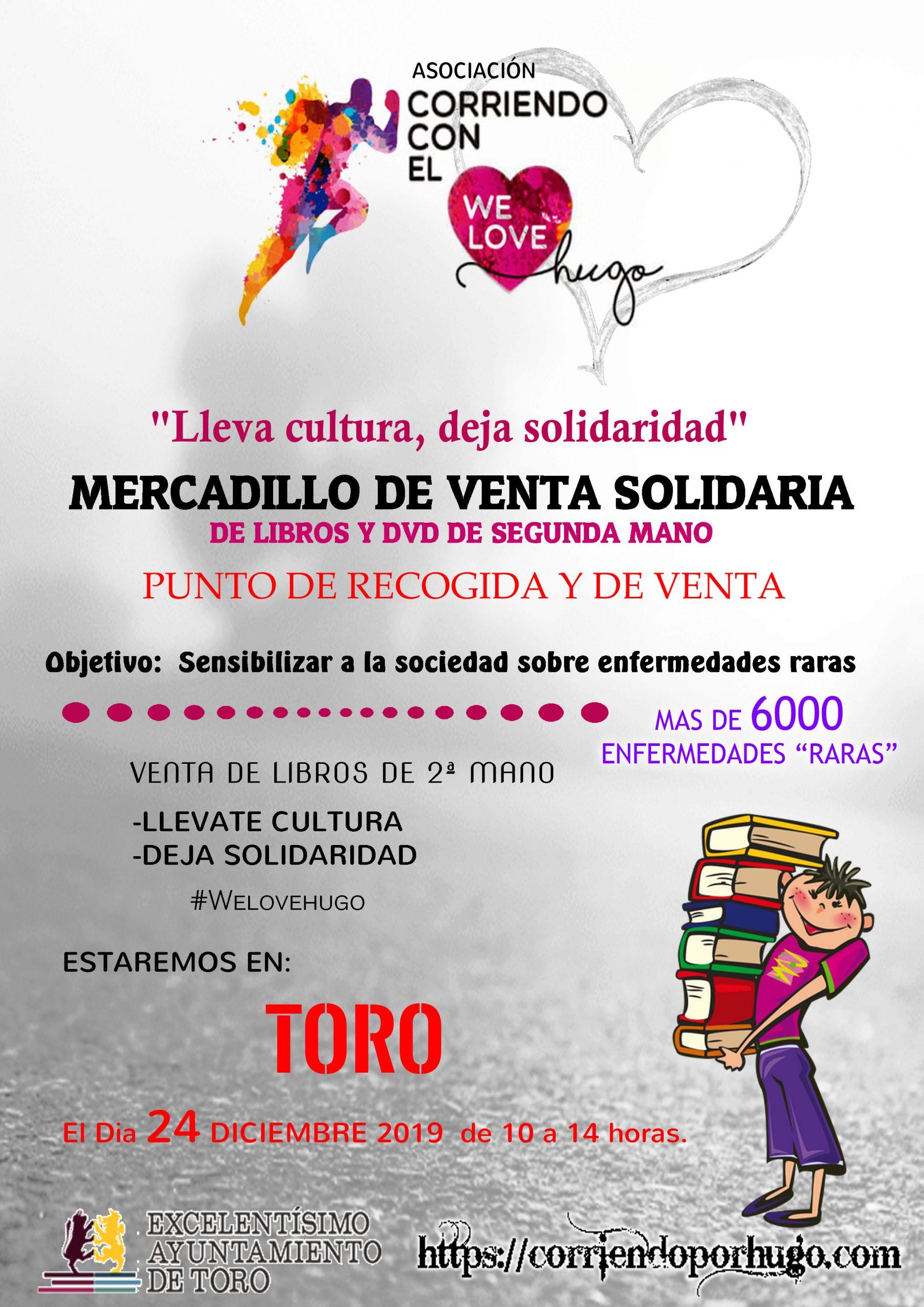 Mercadillo de libros Solidario en Toro Navidades Solidarias