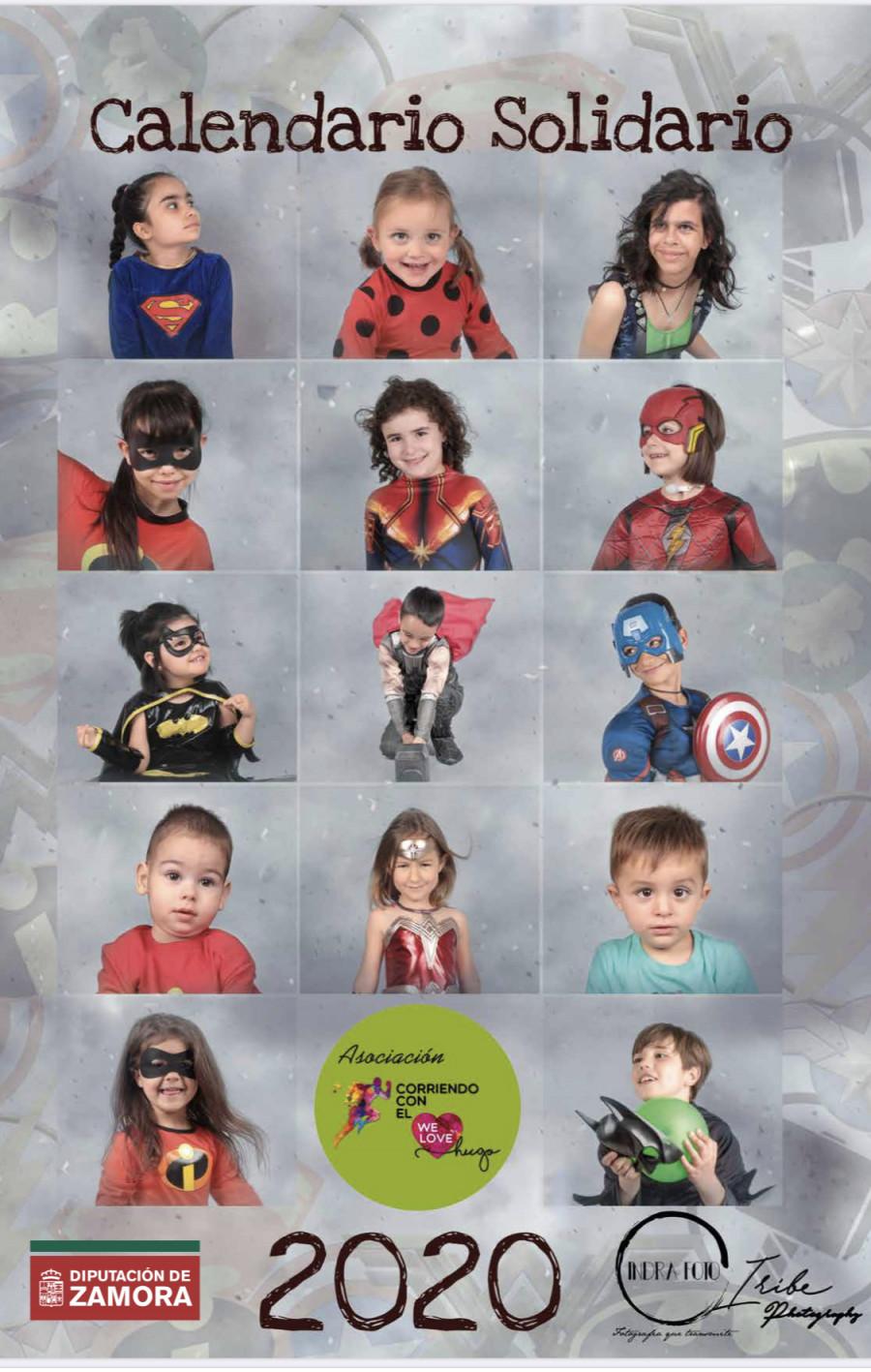 La venta de calendarios de niños con enfermedades raras disfrazados de súper héroes recauda más de 8.000 euros