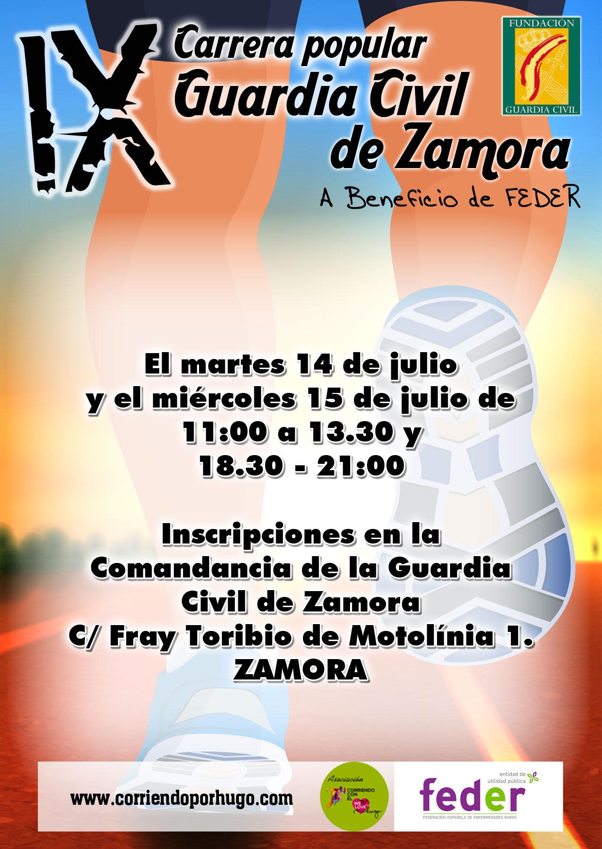 Inscripciones en la Comandancia de la Guardia Civil de Zamora
