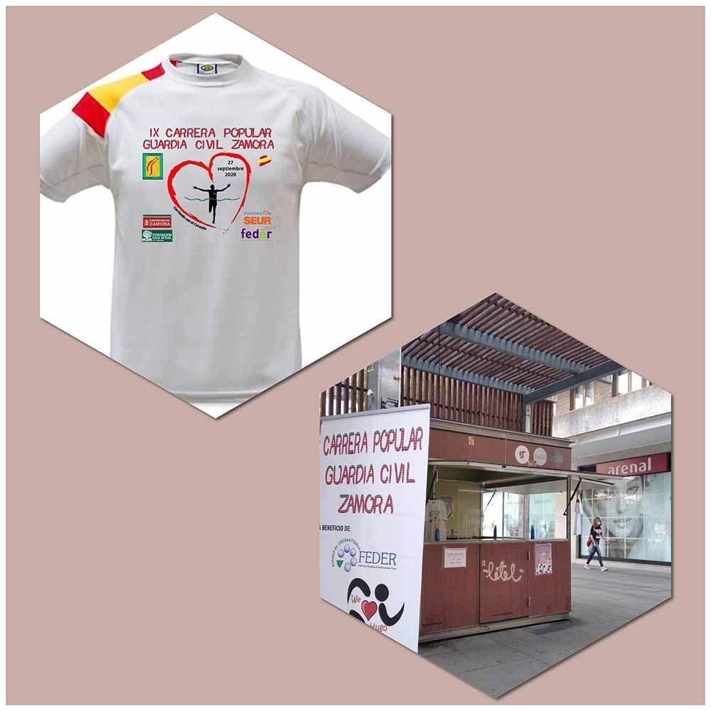 Más de 2.500 personas han apoyado la carrera virtual de la Guardia Civil comprando sus camisetas