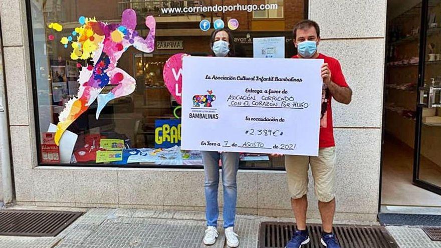Bambalinas hace entrega de un total de 4.778 euros a las asociaciones Corriendo por el Corazón de Hugo y Autismo Zamora